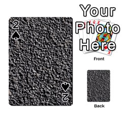 Black Gravel Playing Cards 54 Designs