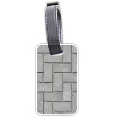 Alternating Grey Brick Luggage Tags (two Sides) by trendistuff