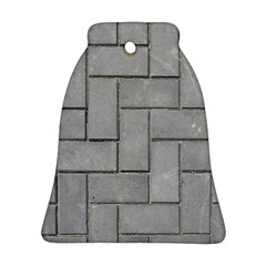 Alternating Grey Brick Bell Ornament (2 Sides) by trendistuff