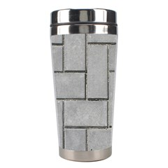 Alternating Grey Brick Stainless Steel Travel Tumblers by trendistuff
