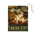 Carson City tiles - Drawstring Pouch (Large)