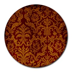 Royal Red And Gold Round Mousepads by trendistuff
