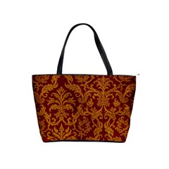 Royal Red And Gold Shoulder Handbags by trendistuff