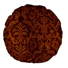 Royal Red And Gold Large 18  Premium Round Cushions by trendistuff