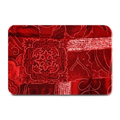 Red Patchwork Plate Mats by trendistuff