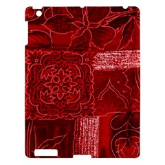 Red Patchwork Apple Ipad 3/4 Hardshell Case by trendistuff