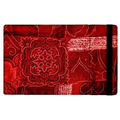 Red Patchwork Apple Ipad 3/4 Flip Case by trendistuff