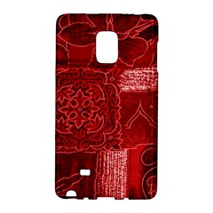 Red Patchwork Galaxy Note Edge by trendistuff
