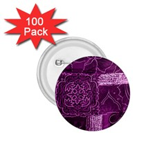 Magenta Patchwork 1 75  Buttons (100 Pack)  by trendistuff