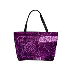 Magenta Patchwork Shoulder Handbags by trendistuff