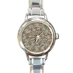 Camo Woodland Faded Round Italian Charm Watches by trendistuff