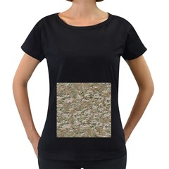 CAMO WOODLAND FADED Women s Loose-Fit T-Shirt (Black) by trendistuff