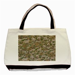 Camo Woodland Faded Basic Tote Bag (two Sides)  by trendistuff