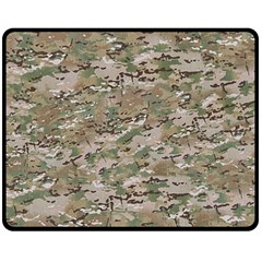 Camo Woodland Faded Double Sided Fleece Blanket (medium)  by trendistuff