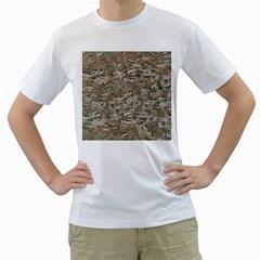 Camo Woodland Faded Men s T Shirt (white)