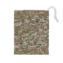 Camo Woodland Faded Drawstring Pouches (large)  by trendistuff