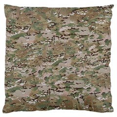 CAMO WOODLAND FADED Standard Flano Cushion Cases (One Side)  by trendistuff