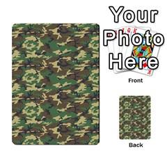 Camo Woodland Multi Purpose Cards (rectangle)