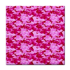 Camo Pink Tile Coasters by trendistuff