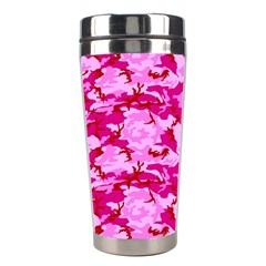 Camo Pink Stainless Steel Travel Tumblers by trendistuff