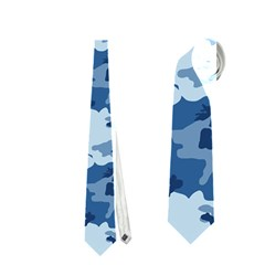 Camo Navy Neckties (two Side)  by trendistuff