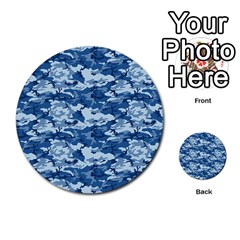 Camo Navy Multi Purpose Cards (round)  by trendistuff