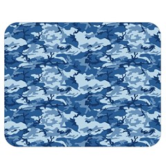 Camo Navy Double Sided Flano Blanket (medium)  by trendistuff