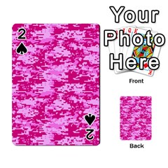 Camo Digital Pink Playing Cards 54 Designs  by trendistuff