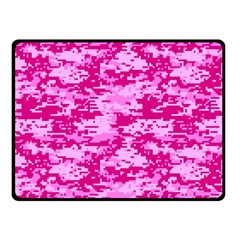 Camo Digital Pink Fleece Blanket (small) by trendistuff