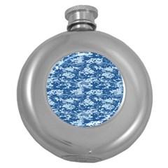 Camo Digital Navy Round Hip Flask (5 Oz) by trendistuff