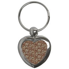 Camo Desert Key Chains (heart)  by trendistuff