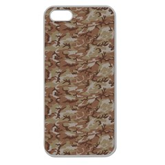 Camo Desert Apple Seamless Iphone 5 Case (clear) by trendistuff