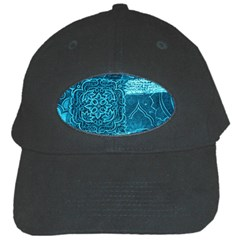 Blue Patchwork Black Cap