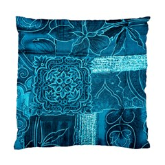 Blue Patchwork Standard Cushion Case (one Side)  by trendistuff