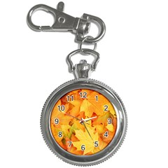Yellow Maple Leaves Key Chain Watches by trendistuff