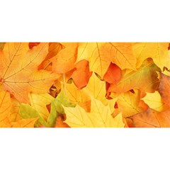 Yellow Maple Leaves You Are Invited 3d Greeting Card (8x4)