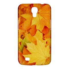 Yellow Maple Leaves Samsung Galaxy Mega 6 3  I9200 Hardshell Case by trendistuff