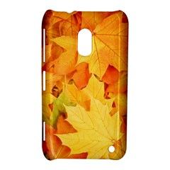 Yellow Maple Leaves Nokia Lumia 620 by trendistuff