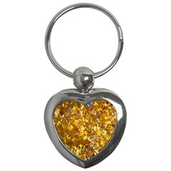 Yellow Leaves Key Chains (heart)  by trendistuff