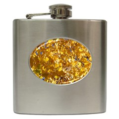 Yellow Leaves Hip Flask (6 Oz) by trendistuff