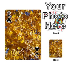 Yellow Leaves Playing Cards 54 Designs  by trendistuff