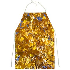 Yellow Leaves Full Print Aprons by trendistuff