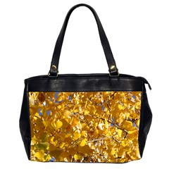 Yellow Leaves Office Handbags (2 Sides)  by trendistuff