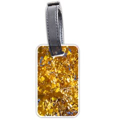Yellow Leaves Luggage Tags (one Side)  by trendistuff