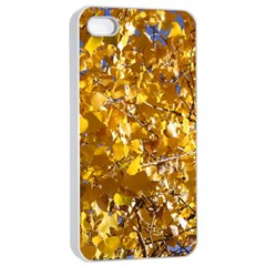 Yellow Leaves Apple Iphone 4/4s Seamless Case (white) by trendistuff
