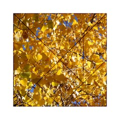 Yellow Leaves Acrylic Tangram Puzzle (6  X 6 ) by trendistuff
