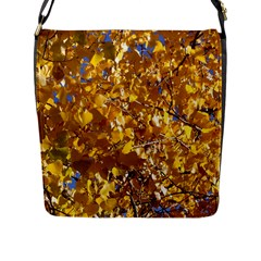 Yellow Leaves Flap Messenger Bag (l)  by trendistuff