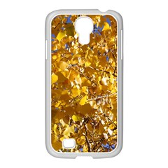 Yellow Leaves Samsung Galaxy S4 I9500/ I9505 Case (white) by trendistuff