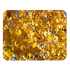 Yellow Leaves Double Sided Flano Blanket (large)  by trendistuff