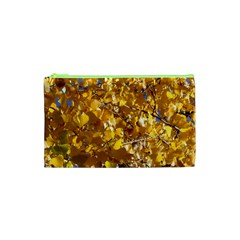 Yellow Leaves Cosmetic Bag (xs) by trendistuff